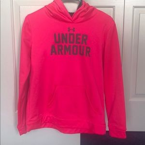 Youth Large Under Armour Hot Pink Hoodie